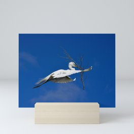 Fly Softly and Carry a Big Branch Mini Art Print