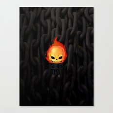 Chibi Ghost Rider Canvas Print