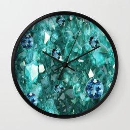 AQUA GEMS & CRYSTALS  SEPTEMBER BIRTHSTONE Wall Clock
