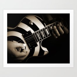 The Guitar Player Art Print