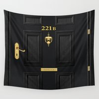 221b Wall Tapestries featuring 221b Baker Street by Andrian Kembara