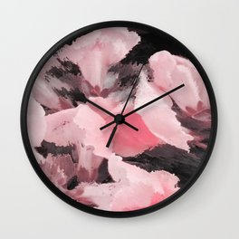 Light Pink Snapdragons Abstract Flowers Wall Clock