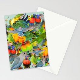 Parrots, parrots, parrots Stationery Cards