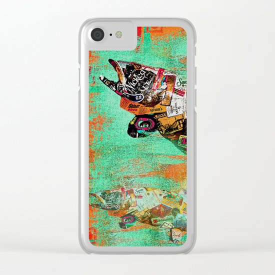 FISH AND BOURBON Clear iPhone Case