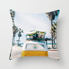 Surfing life Throw Pillow