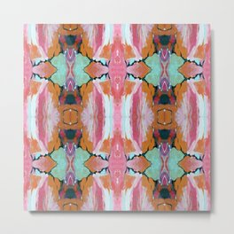 Earth Shattering Pink Blue Abstract Metal Print