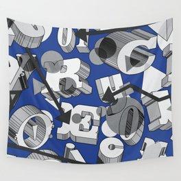Type Blocks Wall Tapestry