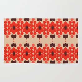 Red pattern rouge 6 Rug