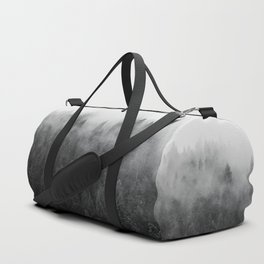 Black and White Mist Ombre Duffle Bag