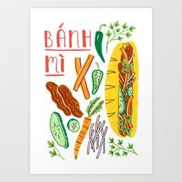 Banh Mi Art Print
