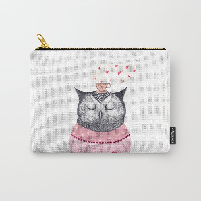 Owl lover of coffee Carry-All Pouch