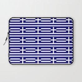 flag of greece 2-Greece,flag of greece,greek,Athens,Thessaloniki,Patras,philosophy,theater,tragedy Laptop Sleeve