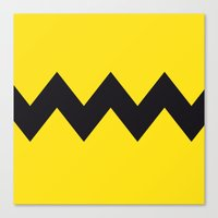 charlie brown Canvas Prints featuring Charlie Brown by Zhi-Yun