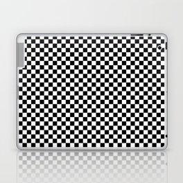 Black White Checks Minimalist Laptop & iPad Skin