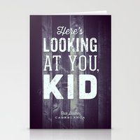 casablanca Stationery Cards featuring Here's Looking at You, Kid by Oliver Shilling