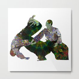 Aikido Rising Energy Metal Print