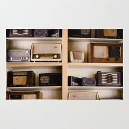 Vintage radio Rug