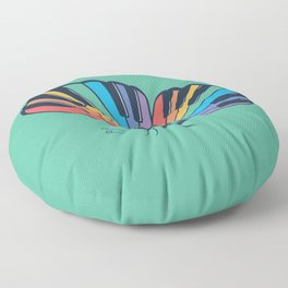 Musical Butterfly (Musical Rainbow) Floor Pillow