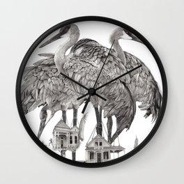 Birdhouses Wall Clock