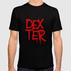word: Dexter MEDIUM Black Mens Fitted Tee