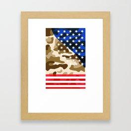 Patriotic camouflage pattern Framed Art Print