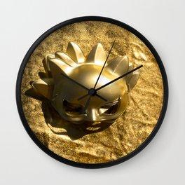 Golden Mask Wall Clock