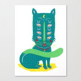 Lunar Kitty Canvas Print