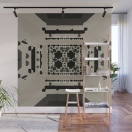 Beige and Black Perspective Wall Mural