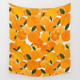 mediterranean oranges still life  Wall Tapestry