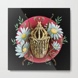 Goliat Beetle Metal Print