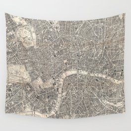 Vintage Map of London England (1899) 2 Wall Tapestry