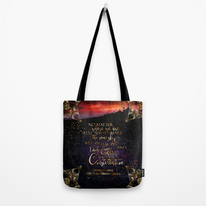 Constellation - The Star Touched Queen Tote Bag