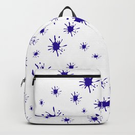 blue spots on white background Backpack