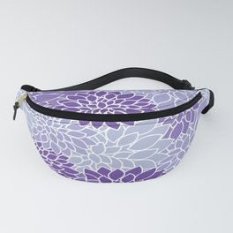 Ultra Violet Lavender Dahlias Fanny Pack