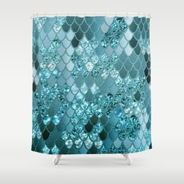 Mermaid Glitter Scales #4 #shiny #decor #art #society6 Shower Curtain