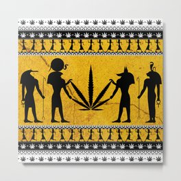 We Are Cannabis Silhouette Metal Print