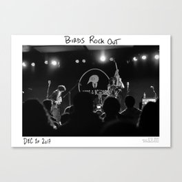 Birds in the Boneyard, Print Seven: Birds Rock Out! Canvas Print