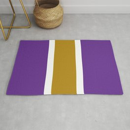 TEAM COLORS 10...GOLD,PURPLE Rug