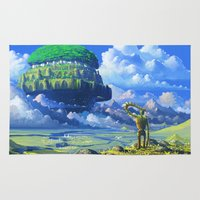 castle in the sky Area & Throw Rugs featuring Castle in the sky by Roberto Nieto