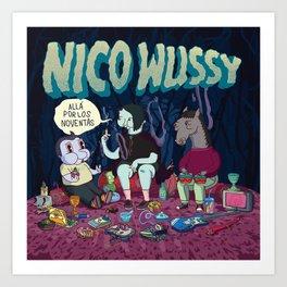 allá por los noventas - nico wussy Art Print