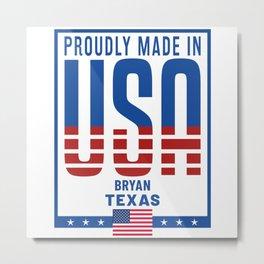 Bryan Texas Metal Print