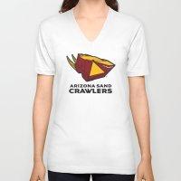 nfl V-neck T-shirts featuring Arizona Sandcrawlers - NFL by Steven Klock