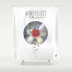 Wanderlust recordings Shower Curtain