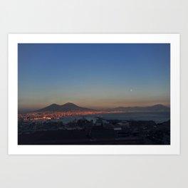 Napoli bathed in the Sun Art Print
