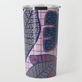 Palm & Monstera Leaves Travel Mug