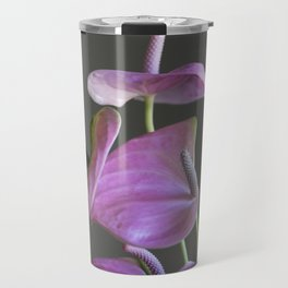 pink anthurium in the vase Travel Mug