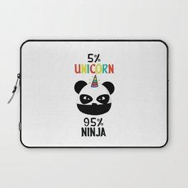 Unicorn Ninja Panda Laptop Sleeve