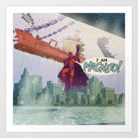 Magneto - 'Google's World - M.E' Art Print