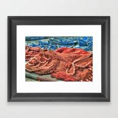 A fish net  Framed Art Print