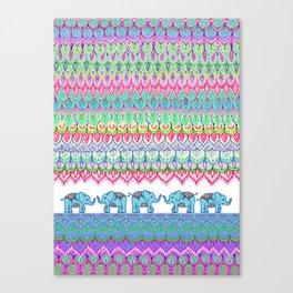 Tiny Circus Elephants Canvas Print